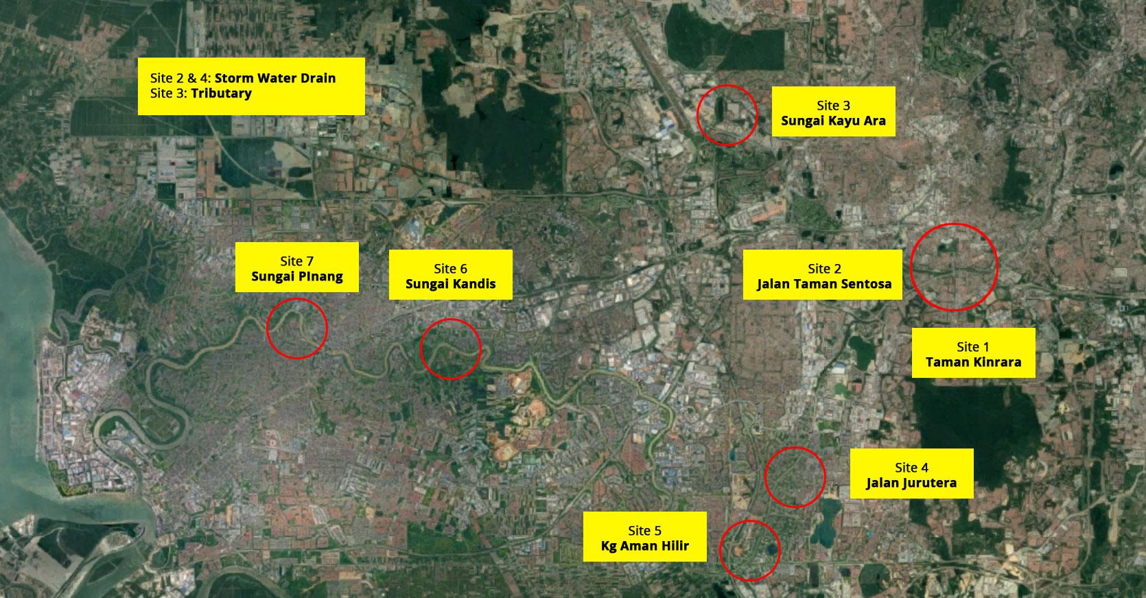Selangor Maritime Gateway - Logbooms location